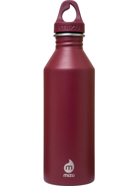 MIZU M8 Bottle with Burgundy Loop Cap 800ml red